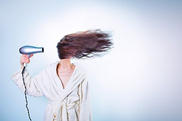 Woman Drying Hair Free Photo