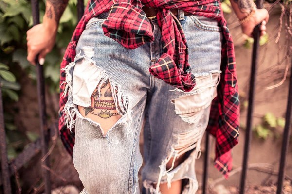 Plaid Shirt & Jeans Free Photo