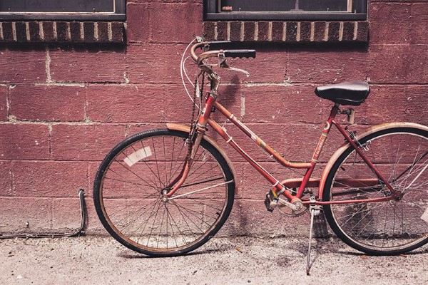 Vintage Bike & Brick Wall Free Photo