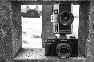 Black & White Cameras Free Photo