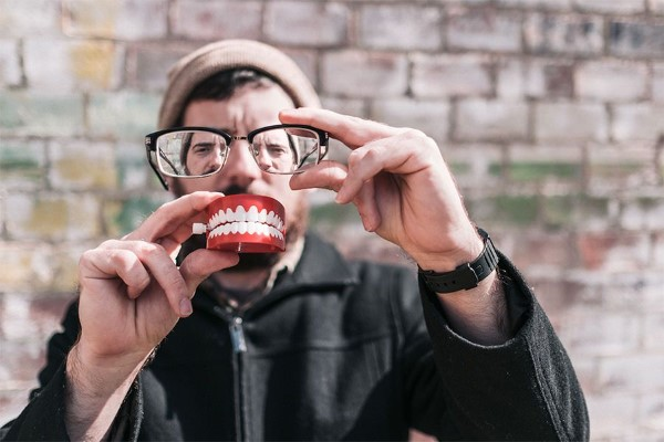 Hipster Man With Teeth Free Photo