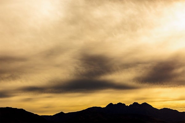 Sunset Over the Mountains Free Photo