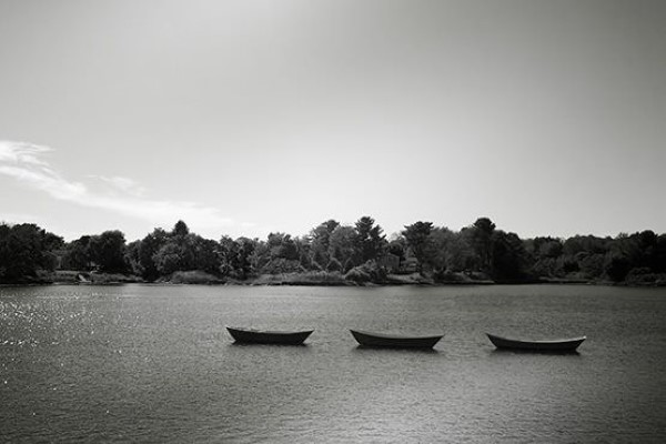 Canoes Floating on Lake Free Photo