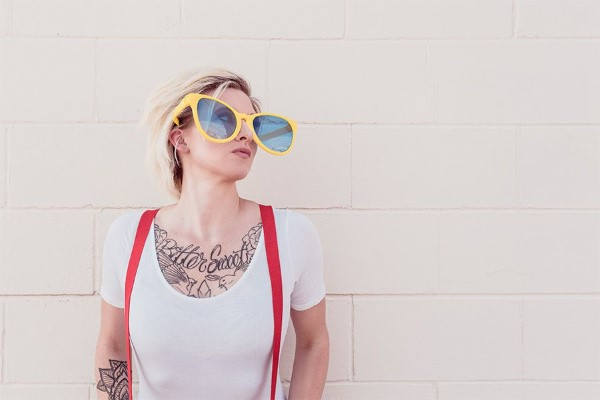 Blond Woman & Sunglasses Free Photo