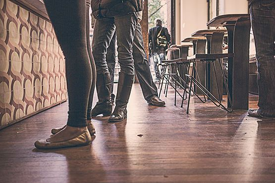 Waiting at the Coffee Shop Free Photo