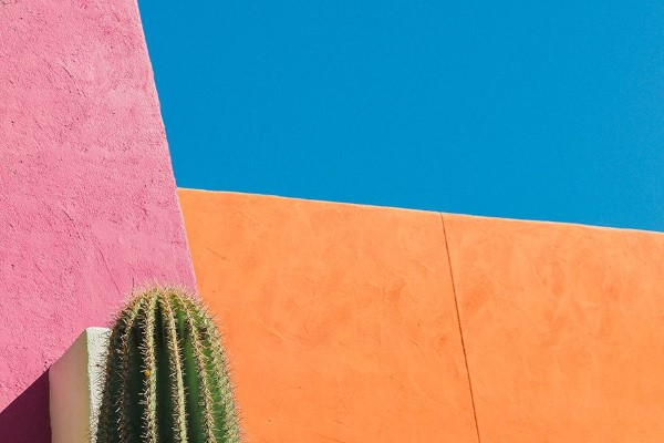 Colorful Building in Desert Free Photo