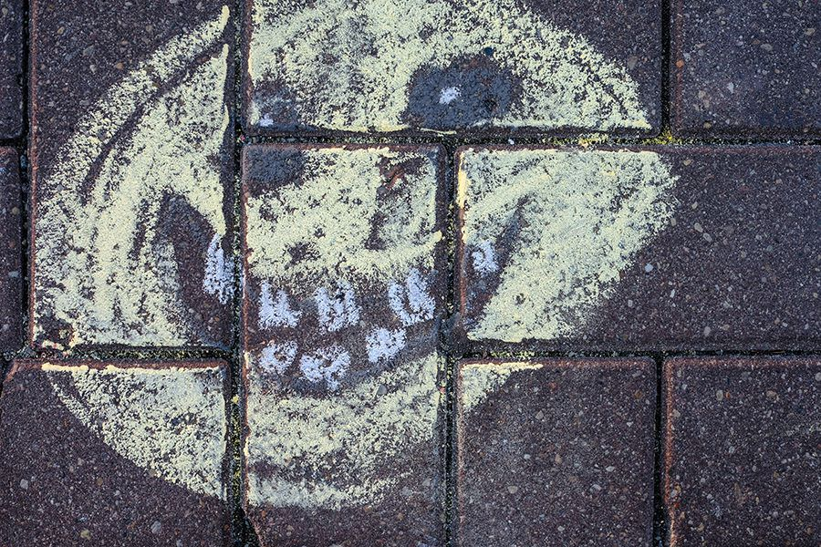 Smiling Face Grafitti Free Photo