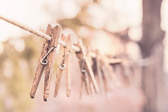 Pegs on Washing LIne Free Photo