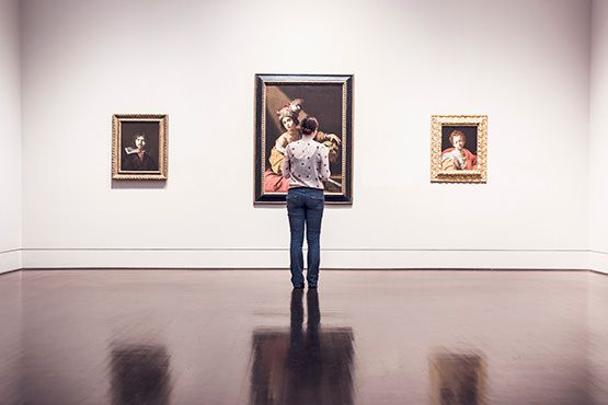 Man in Art Gallery Free Photo
