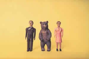 Toy Man, Woman & Bear Free Photo