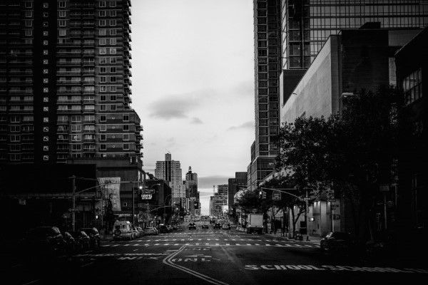 Black & White City Street Free Photo