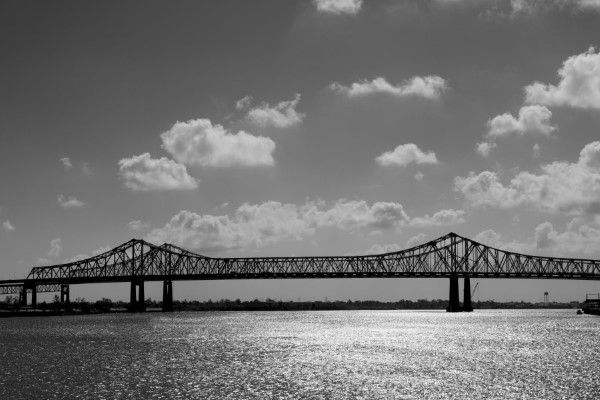 Black & White Suspension Bridge Free Photo
