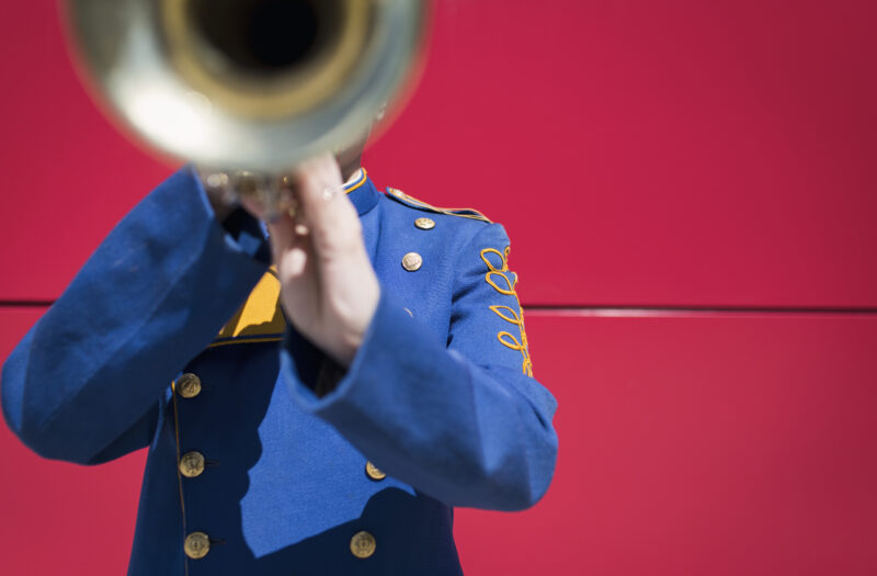 Band Trumpet Player Free Stock Photo