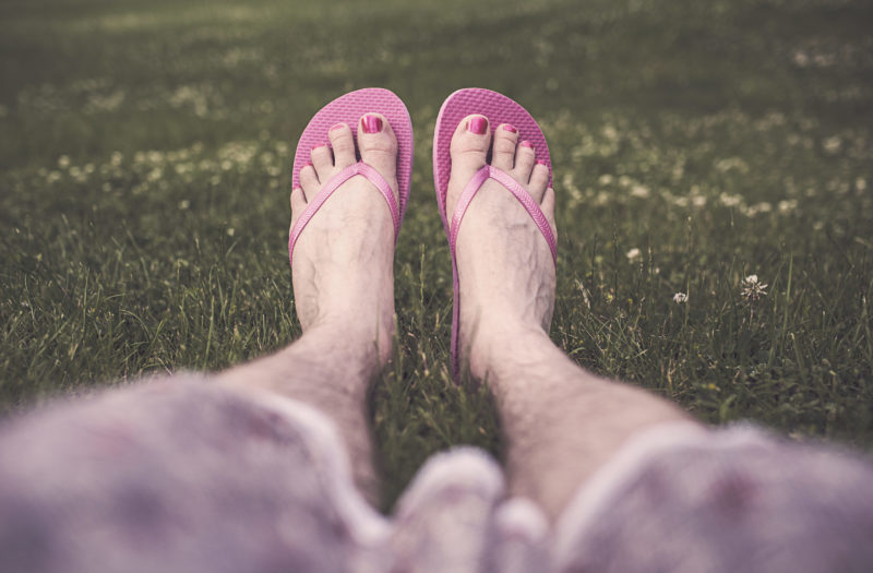 Man Wearing Sandals Free Photo