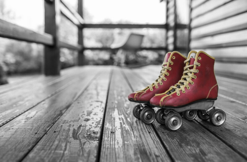Red Rollerskates Free Stock Photo