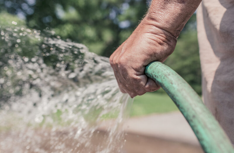 Watering the Lawn Free Stock Photo