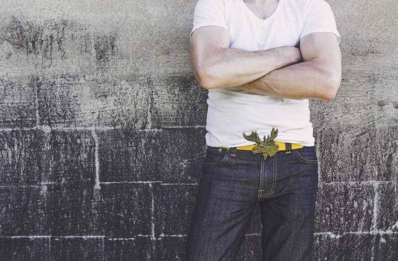 View Jeans and T-shirt Free Stock Image
