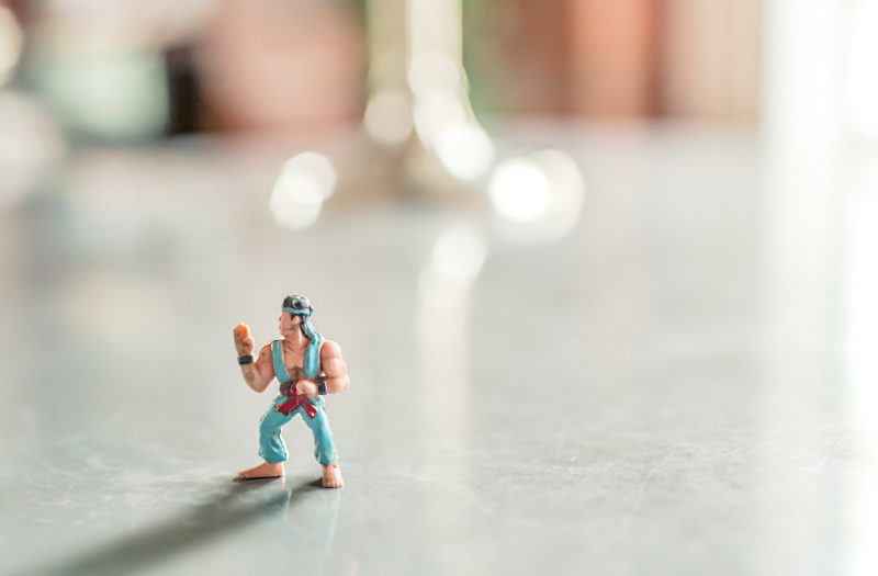 Karate Figurine Free Photo