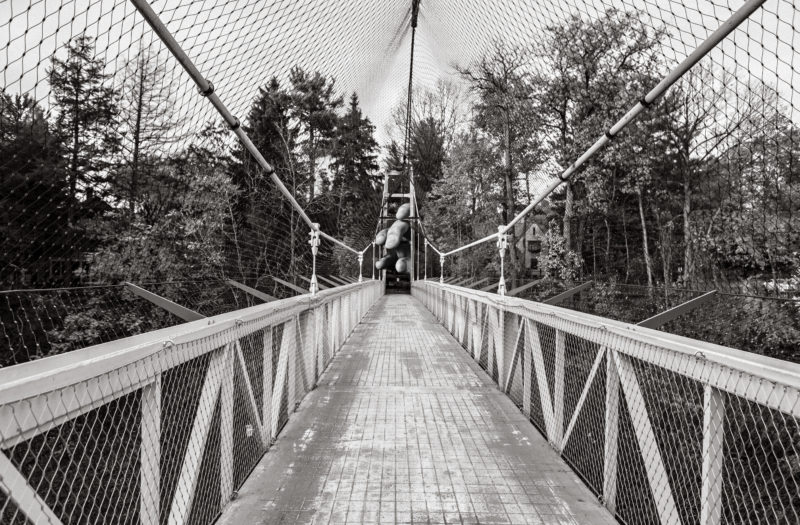 Pedestrian Suspension Bridge Free Photo