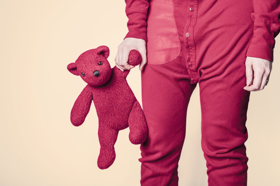 Red Pyjamas & Teddy Free Photo