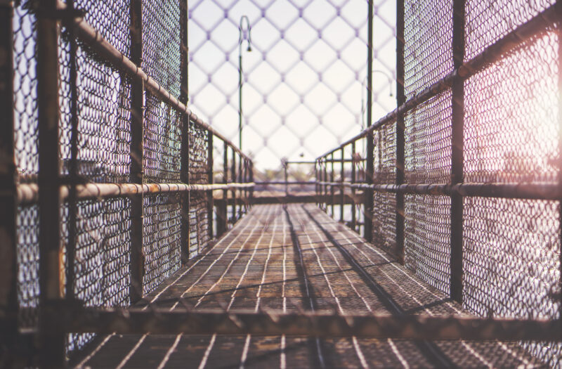 Chained Fence Free Stock Photo