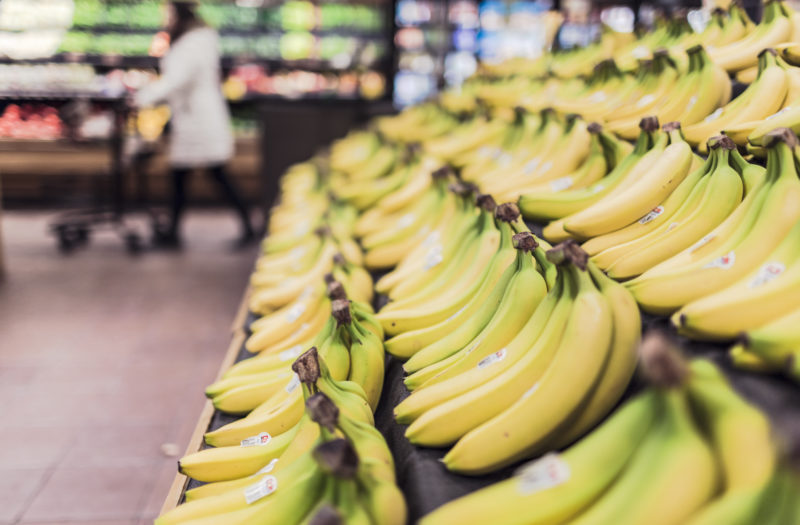 Bananas in Store Free Photo