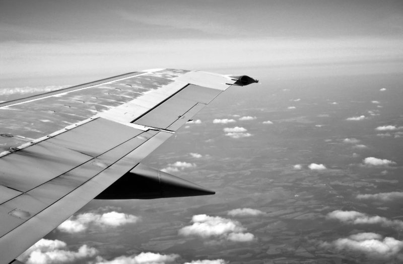 Flying Aeroplane Wing Free Stock Photo