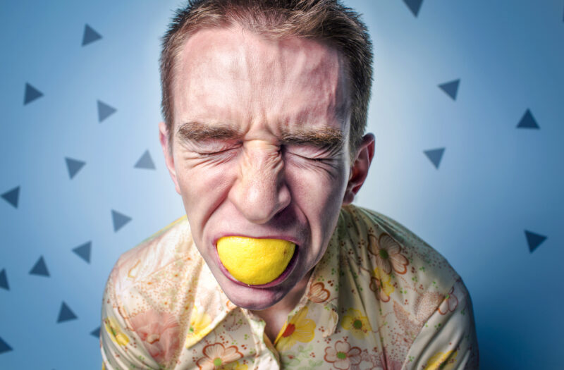 Sour Face Free Stock Photo
