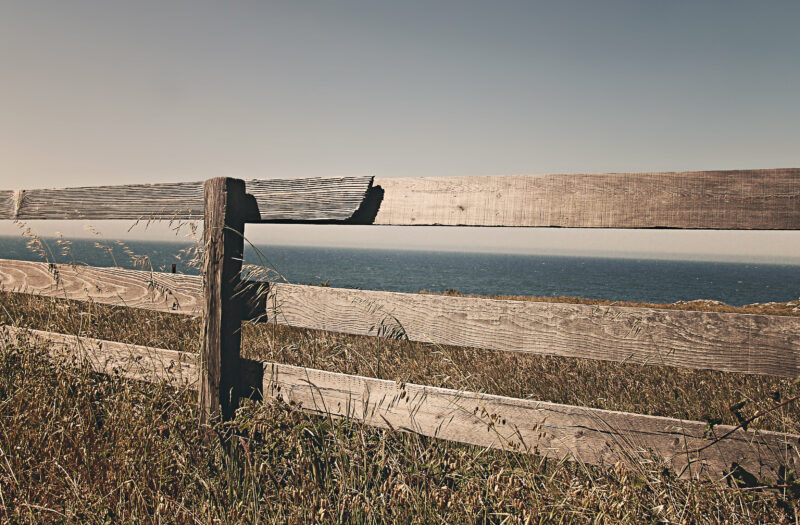 Brown Fence in California Free Stock Photo