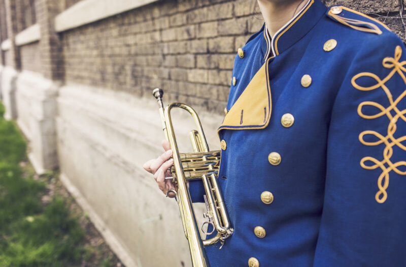 Trumpet Band Player Free Stock Photo