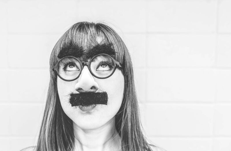Woman With Moustache Free Stock Photo