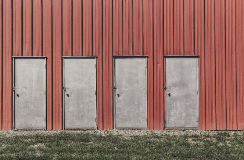 Red Building Free Stock Photo