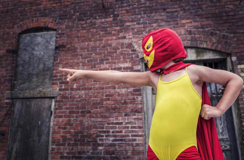 Colorful Superhero Free Photo