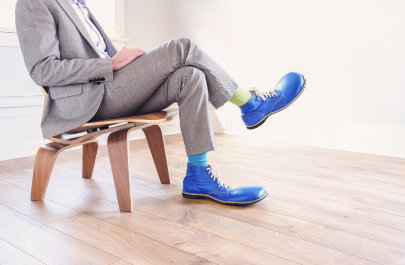 Large Blue Shoes Free Stock Photo