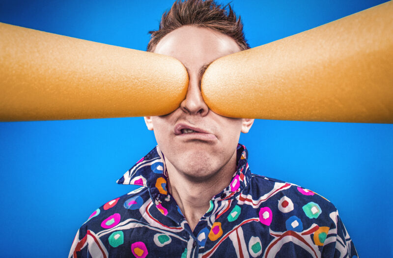 Man With Crazy Eyes Free Stock Photo