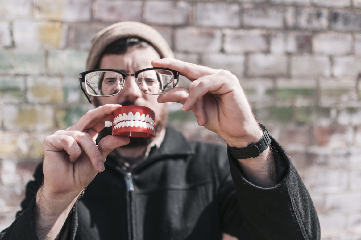 Hipster Man With Teeth Free Stock Photo