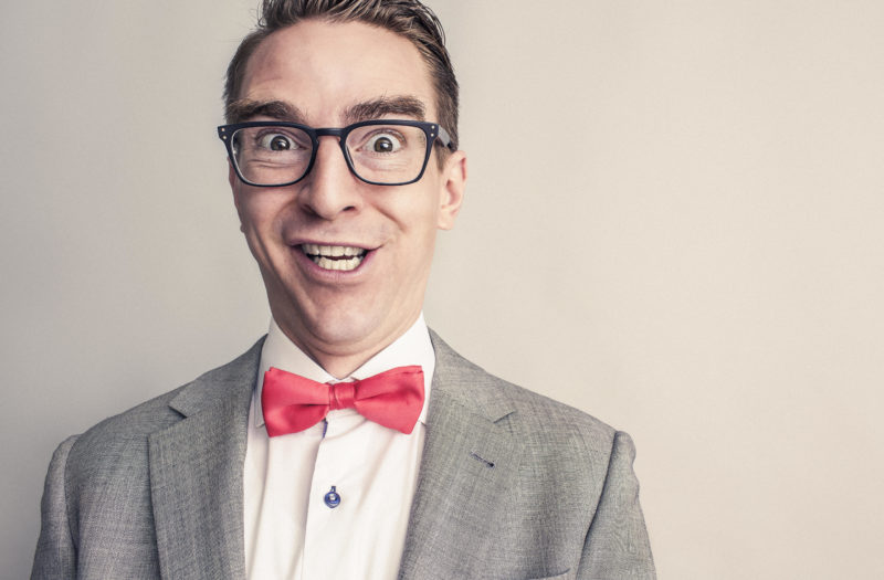 Happy Man With Bow-Tie Free Stock Photo