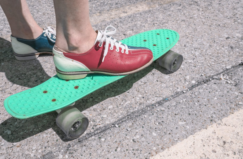 Shoes and Skateboard Free Photo