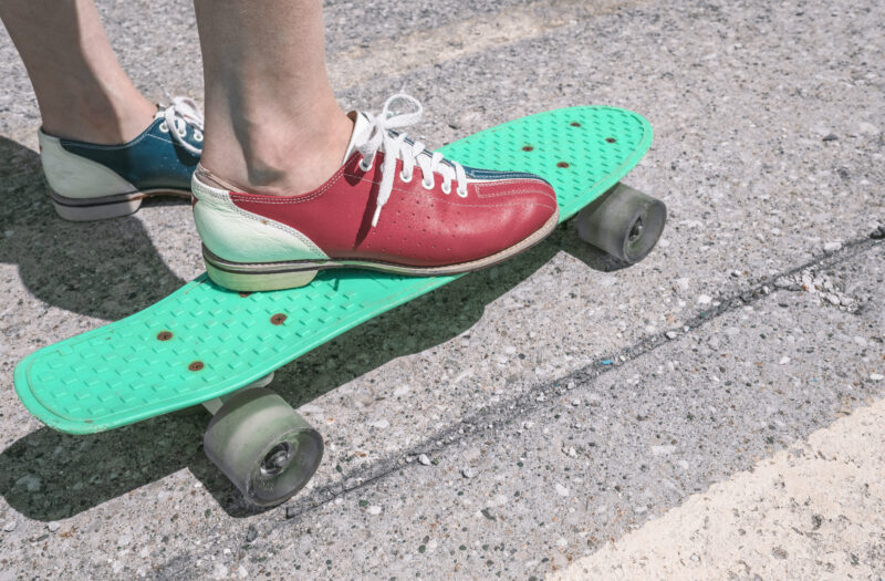 Shoes and Skateboard Free Stock Photo