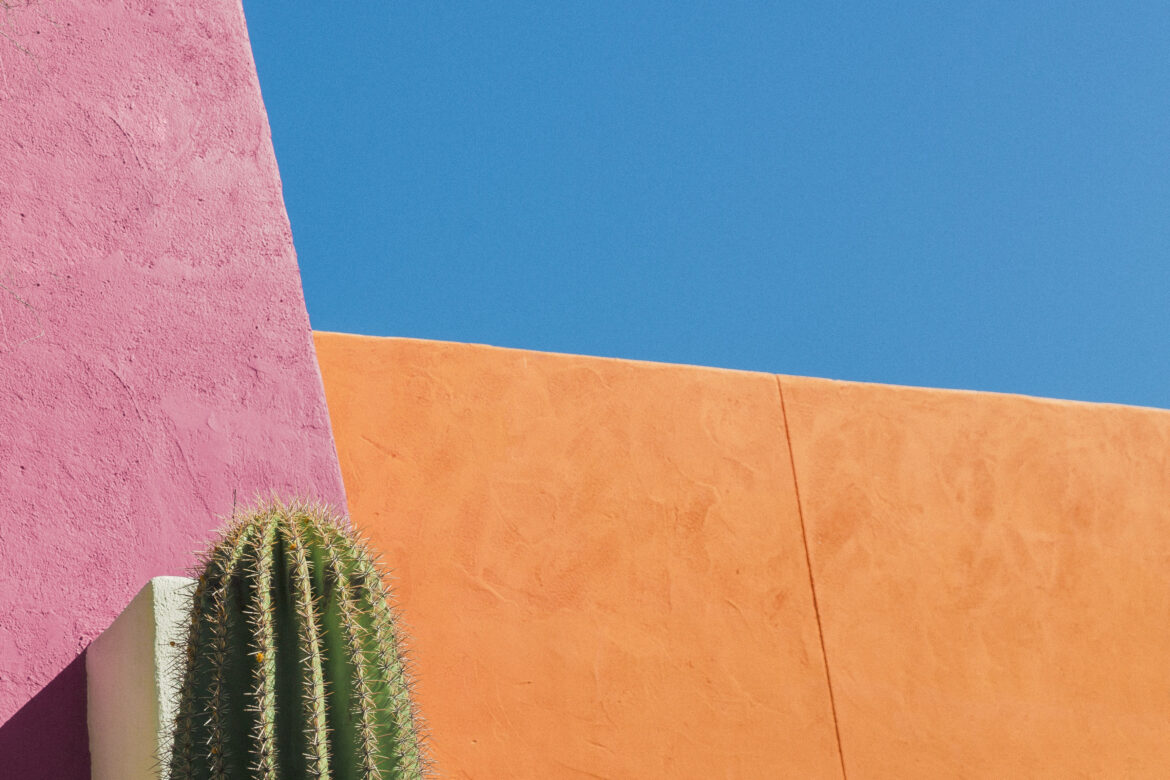 Colorful Building in Desert Free Stock Photo