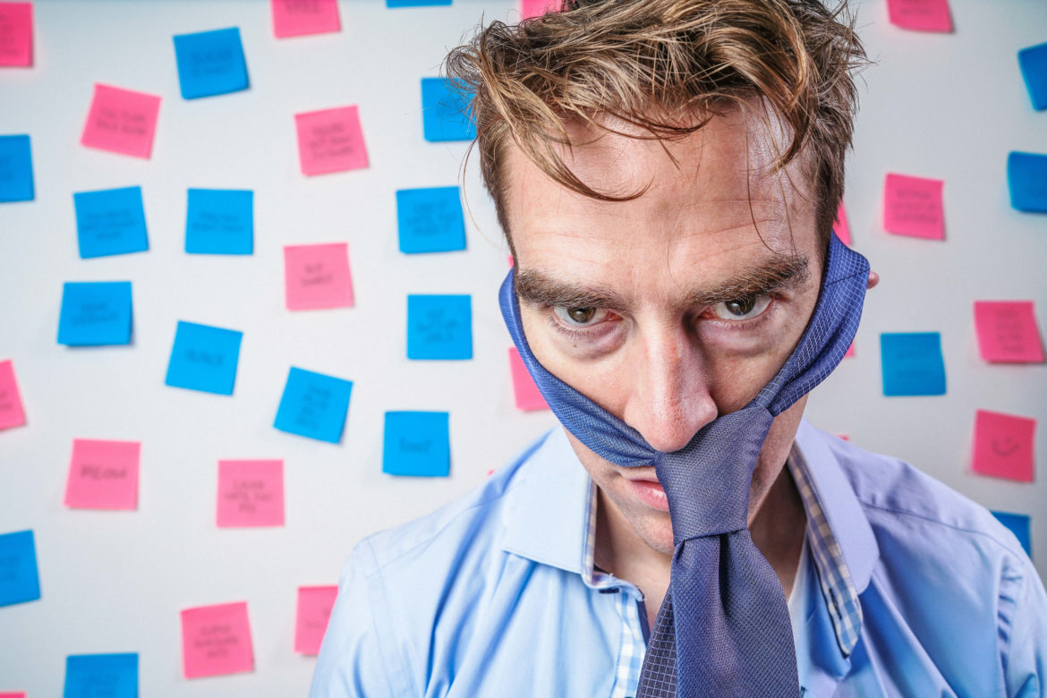 Stressed Businessman Free Photo