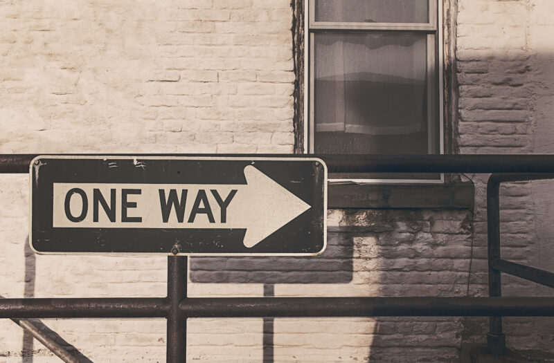 One Way Road Sign Free Stock Photo
