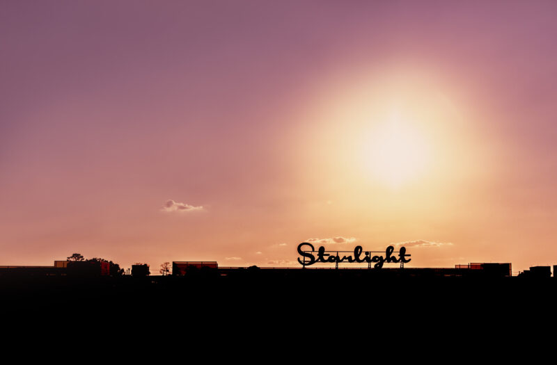 Sign at Sunset Free Stock Photo