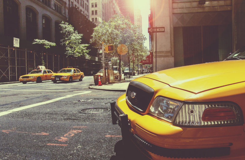 Yellow Cab in New York Free Stock Photo