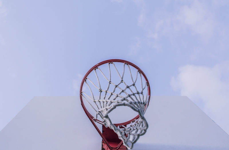 Minimal Basketball Hoop Free Photo