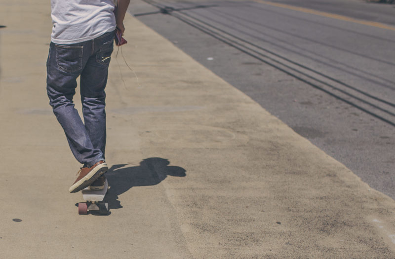 Man on Longboard Free Stock Photo