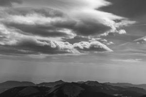 Mountain and Clouds Landscape Free Photo