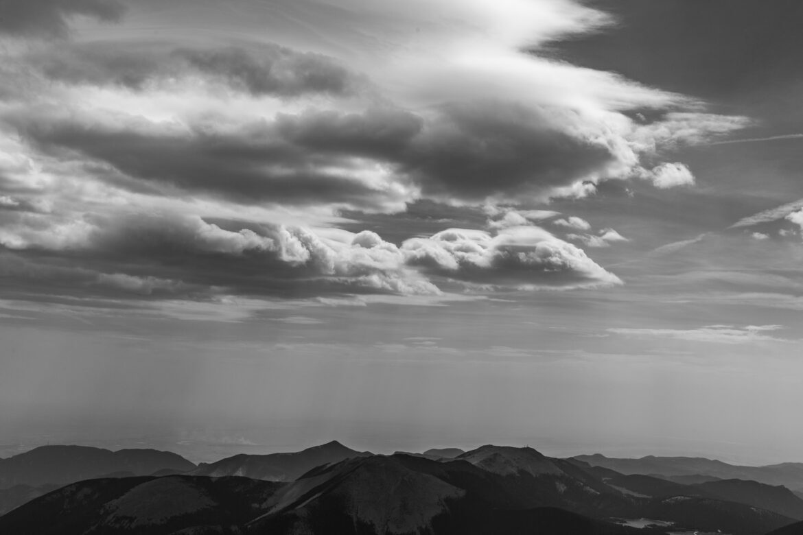 Mountain and Clouds Landscape Free Stock Photo