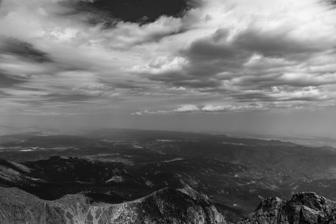 Clouds over Mountains Free Stock Photo