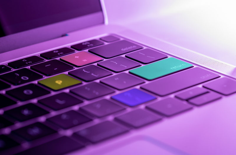 Colorful Laptop Keys Free Photo